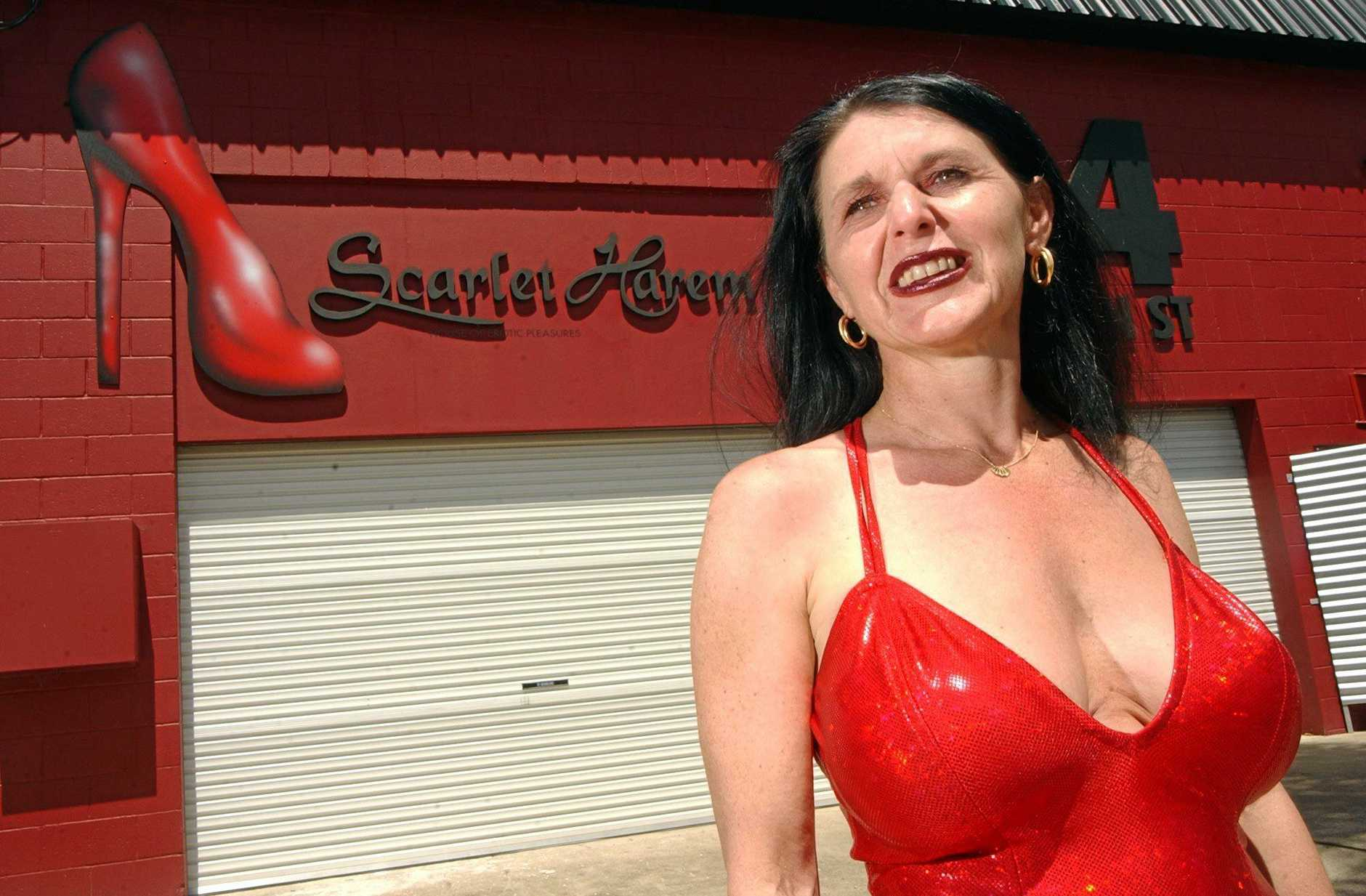 Paris Satine - licensee of the Scarlet Harem, renamed after a legal challenge by Moulin Rouge in France 03/10/03.Photo Chris McCormack / Sunshine Coast Daily