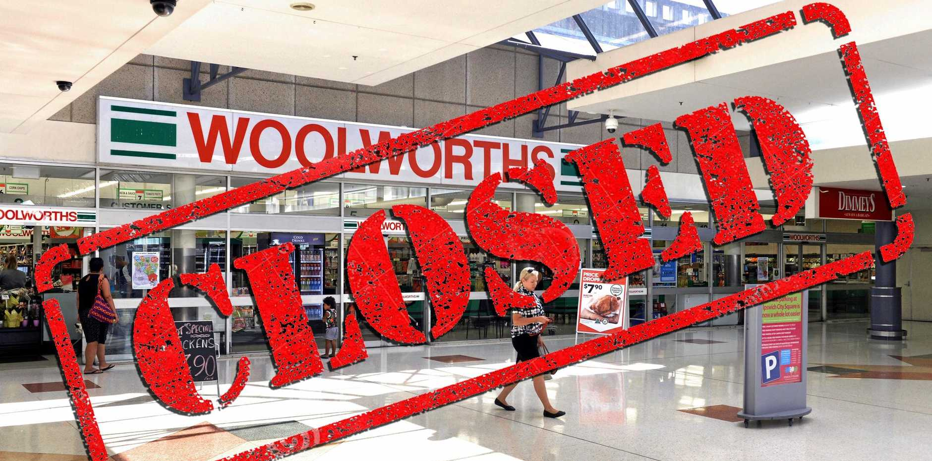 GOOD OR BAD CHOICE? Woolworths is closing in the Ipswich Mall. Some say this will make way for more entertainment options.
