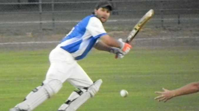 PICKED THE GAP: Tucabia Copmanhurst's Brad Chard guides a ball to the third man boundary during the Cleaver Night Cricket match between at McKittrick Park.