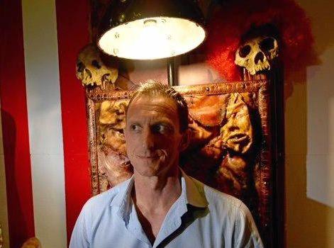Aussie World Chief Operating Officer Aaron Flanagan in the Mayhem Maze