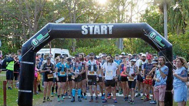READY TO RACE: Off and running in the Blackall 100: the 100km event, held on the weekend.