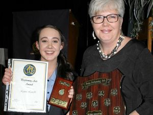 Senior Laura Lavelle cleans up Roma State College awards night