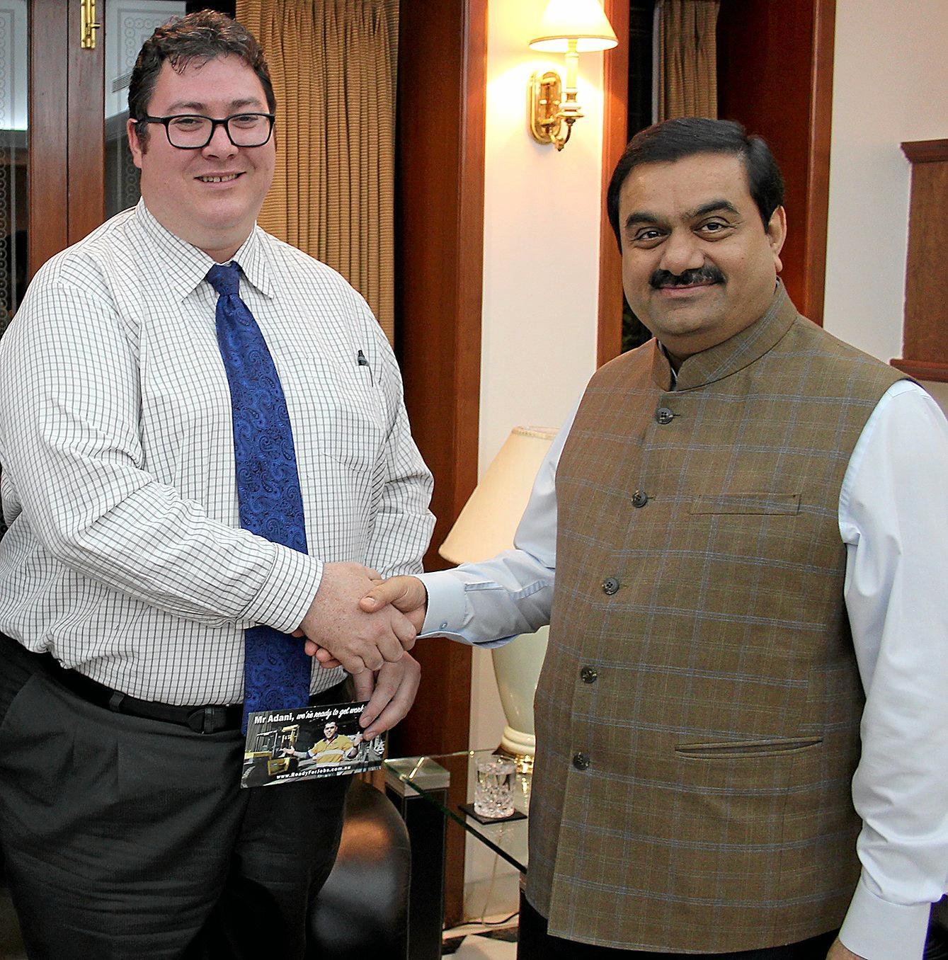 Dawson MP George Christensen with Adani Group chairman Gautam Adani. Photo Contributed