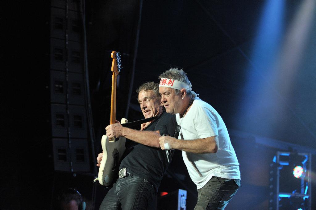 Cold Chisel concert at Stockland Park, Kawana. Jimmy Barnes and Ian Moss. Photo: Brett Wortman / Sunshine Coast Daily