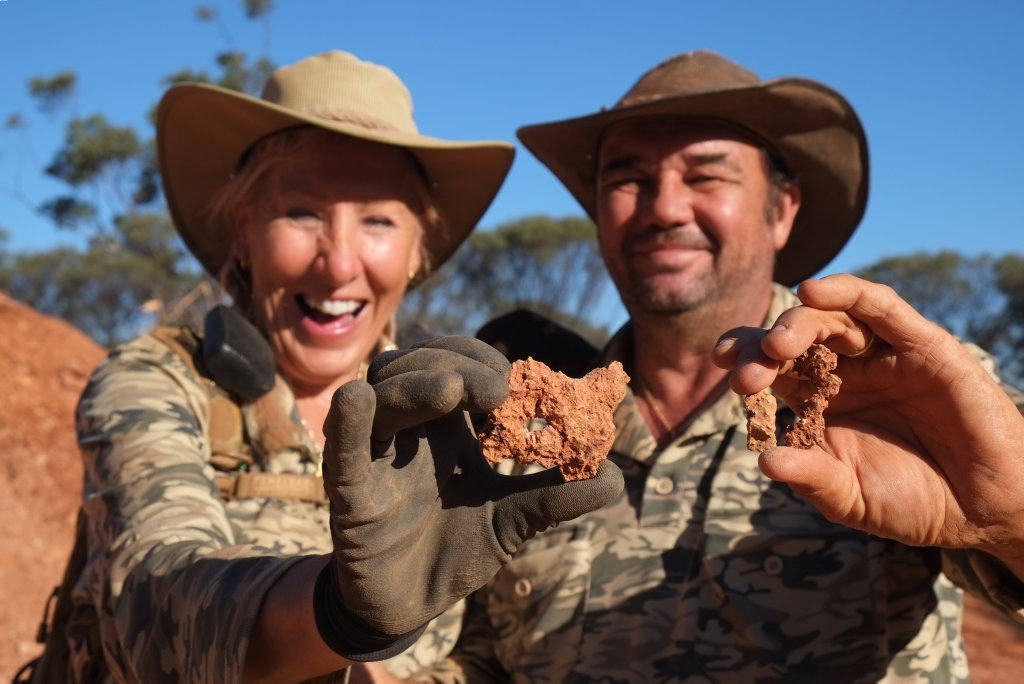 Christine and Greg Clark star in the TV series Aussie Gold Hunters.