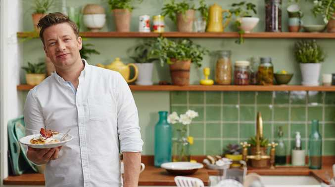 Jamie Oliver hosts the TV series Jamie's Super Foods Family Classics.