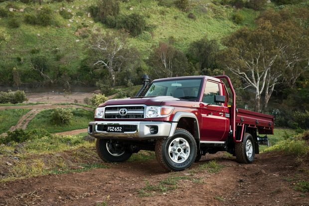 OLD STAGER: Toyota's Angel of the Outback LC70 has the same old rugged styling and cabin, but is now tougher than ever, safer and more economical. They're not cheap though.