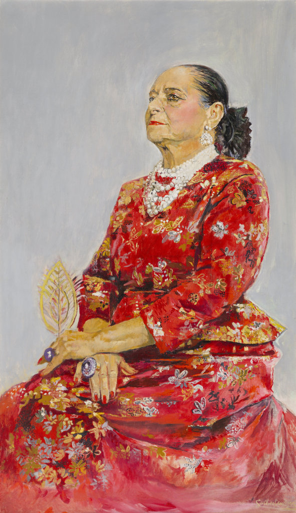 FAMOUS: The portrait of Helena Rubinstein, a Polish American businesswoman who spent one year in Toowoomba.