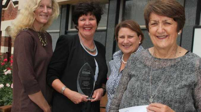 Celebrating a win in the Queensland Regional Rural and Remote Women's Network awards is Dianne French (front) with (from left) Margaret Harrison, Cr Nancy Sommerfield and Sonja O'Meara.