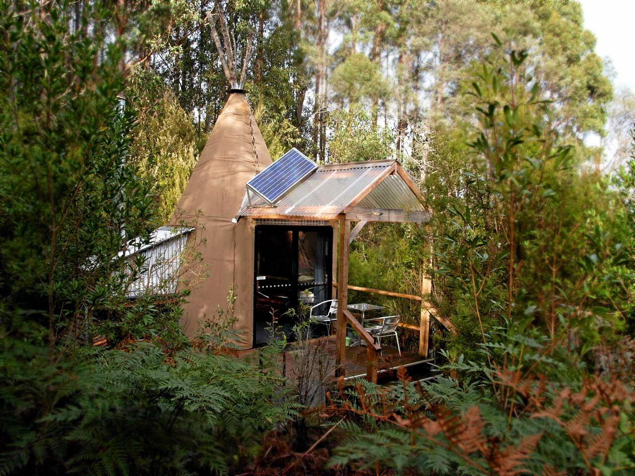 Huon Bush Retreats in Tasmania.