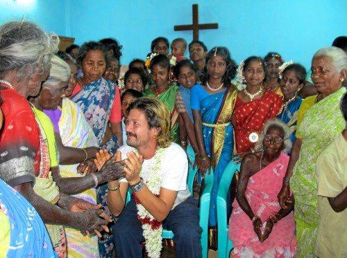 Matt Brice on a previous trip to India.