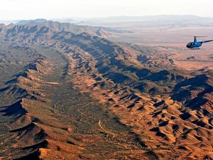 Explore the outback by helicopter