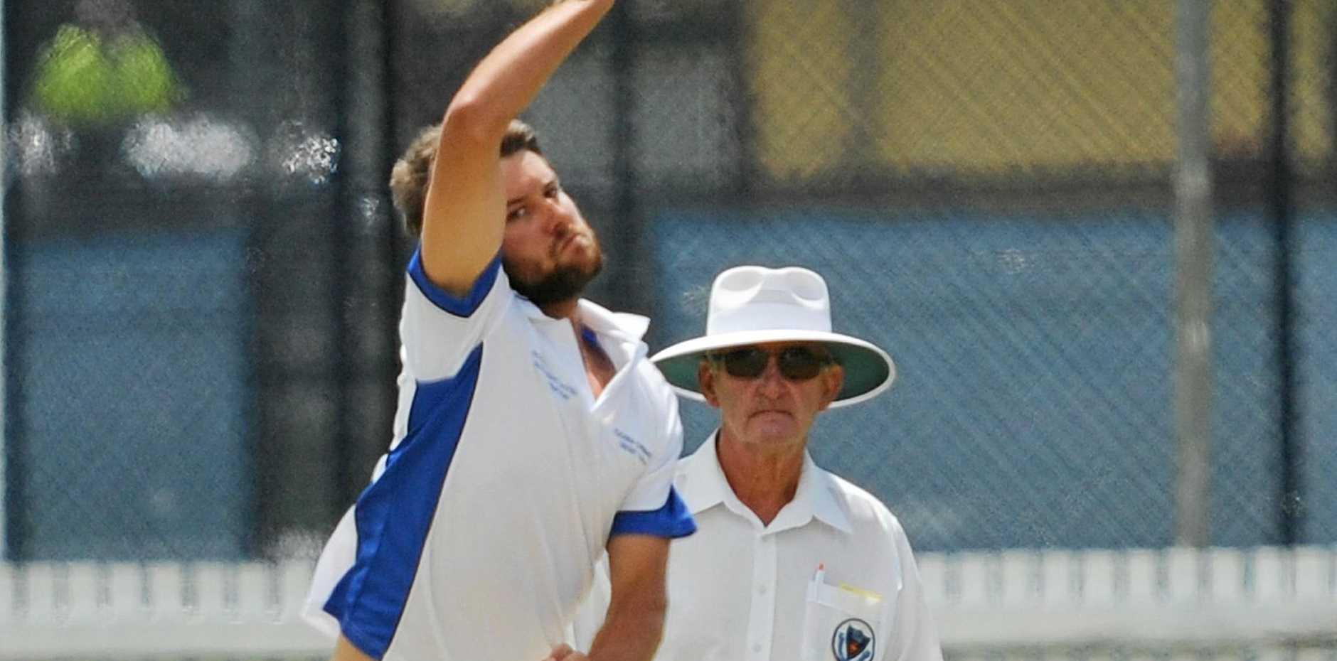 DANGER MAN: Former Australian under-19 speedster Brad Chard is one CRCA bowler the Lower River batsmen will treat with caution.