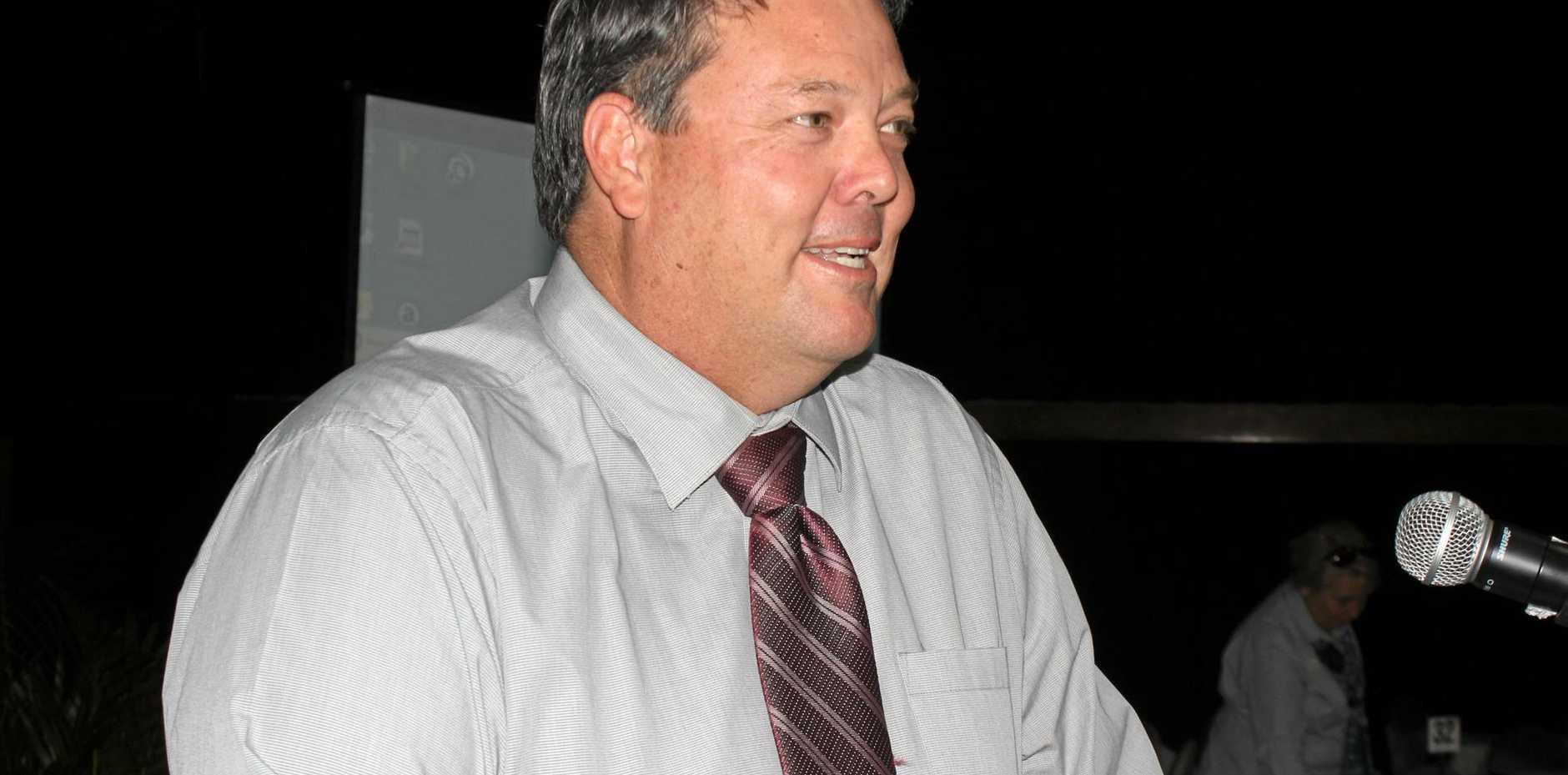 UP BEAT: Mayor Andrew Willcox.