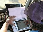 TIME OUT: A driver uses the Logbook Checker app.