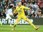 Goalkeeper Andrew Redmayne of Western Sydney has been under pressure this season.