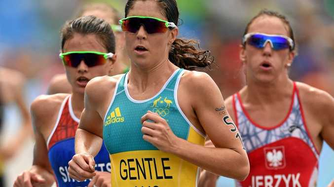 GUNNING FOR ANOTHER NOOSA TITLE:  Ashleigh Gentle, seen her during the Rio Olympics, will attempt to win her fourth Noosa Triathlon on Sunday.