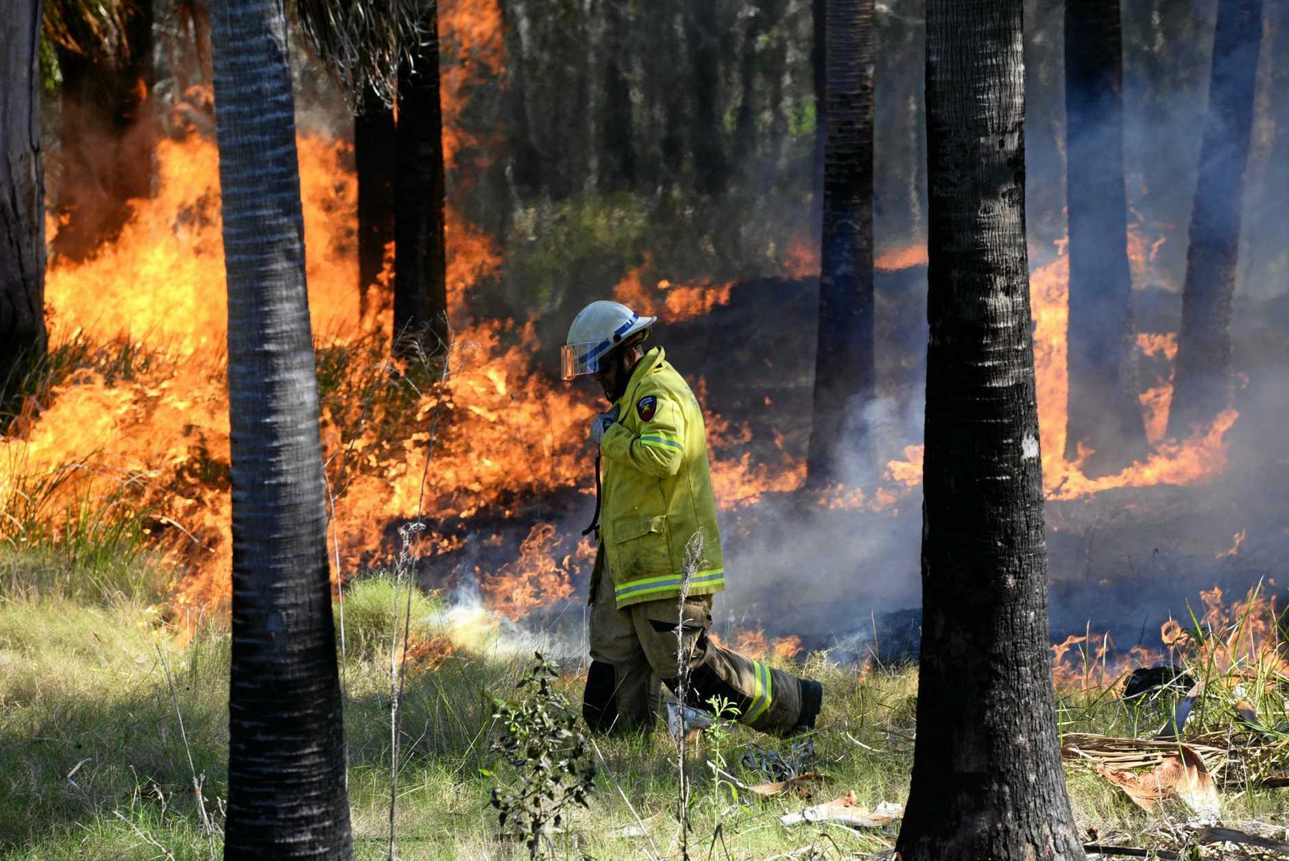BUSHFIRE: Drying land means more fuel for bushfires.