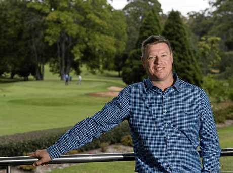 New Toowoomba Golf Club general manager Josh Madden at work this week.