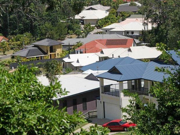 Suburban Housing  roof topsPhoto Brett Wortman / Sunshinshine Coast Daily