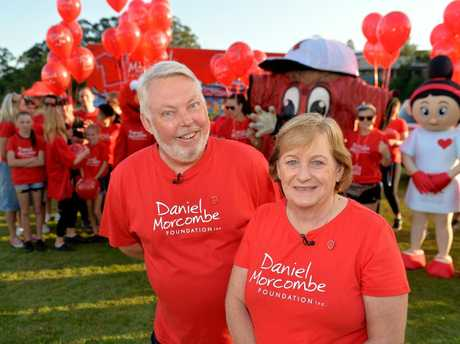 FOR DANIEL: Bruce and Denise Morcombe at the 2016 Walk for Daniel.