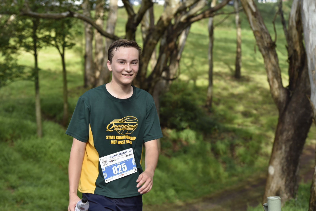 First to finish the 5km hike, Josiah Neal. Hike for Homeless at Jubilee Park to raise funds for the Basement Soup Kitchen who provide daily meals for homeless people. October 29, 2016