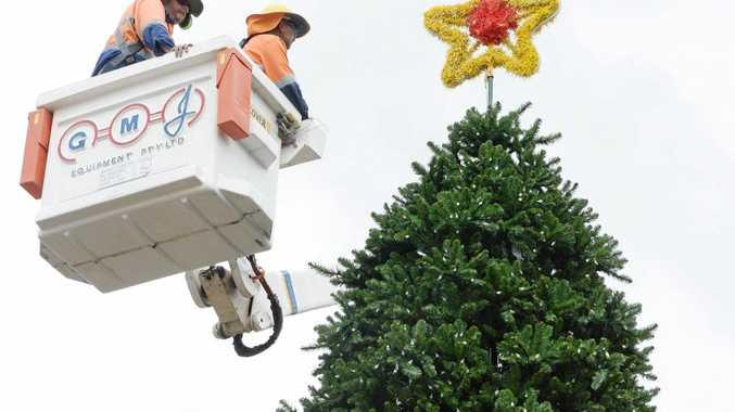 Christmas decorations will be installed in the City Centre on Saturday.