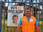 Tweed Shire Council candidate Pryce Allsop out and about on election day.