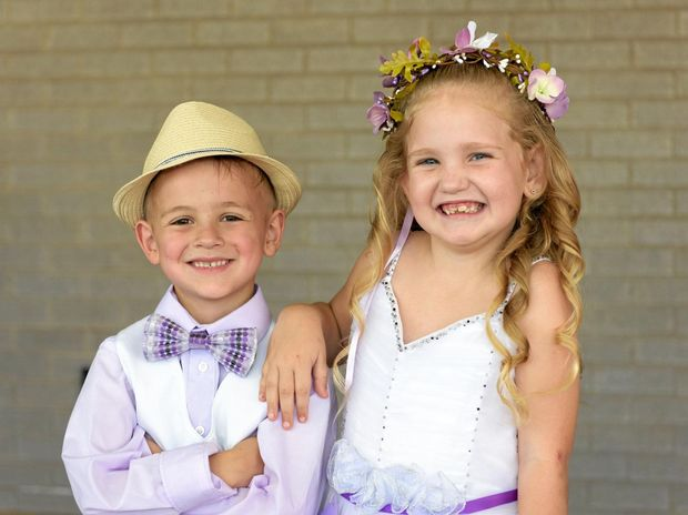 Jye Cone and Liila-Grace Bulley were named the 2016 Jacaranda page boy and flower girl.