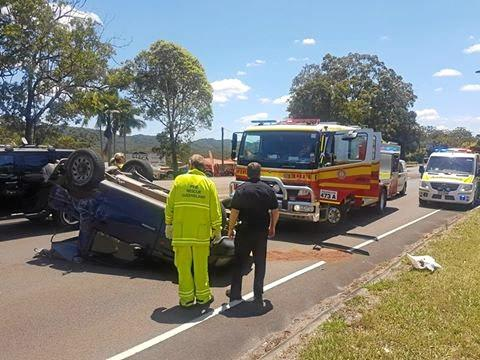 A crash at Nambour Connection Rd, south bound, Parklands yesterday, October 28.