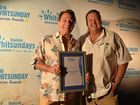 WINNER: The Bob Porter Award for Outstanding Contribution by an Individual winner Greg Waites and Whitsunday Regional Council Mayor Andrew Willcox at the 2016 Whitsunday Tourism Awards.