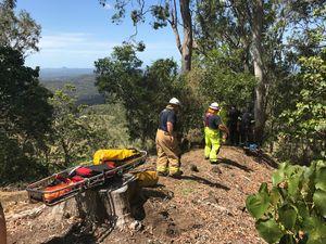 PARAGLIDER CRASH: Man breaks legs after parachute hits tree