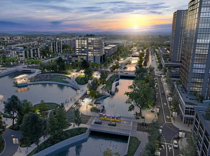 FUTURE VISION: An artist' impression of the Corso in the new Maroochydore city centre, looking west.