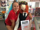 HELLO DOLLY: Bec Garland, of Newsxpress Village Mackay, meets Living Doll Rory.