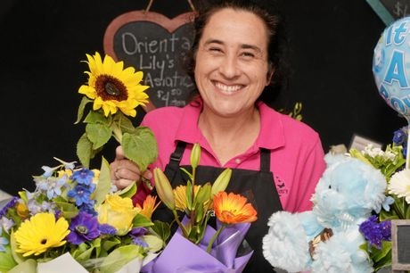 Lisa Metten from Flowers by Lisa  Photo Tony Martin / Daily Mercury