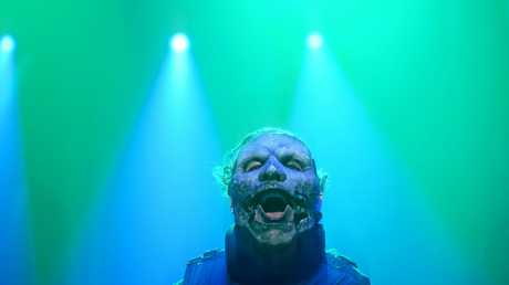 Slipknot frontman Corey Taylor during their set at the Brisbane Entertainment Centre.