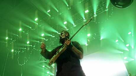 Jim Root with Slipknot at the Brisbane Entertainment Centre.