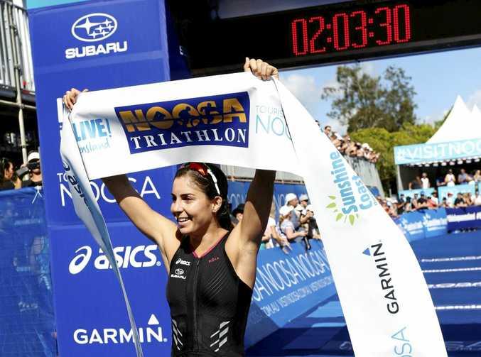 CHAMPION: Ashleigh Gentle wins the women's race again.