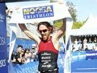 YOU BEAUTY: Dan Wilson won the men's race at the Noosa Triathlon.