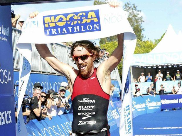 YOU BEAUTY: Dan Wilson won the men's race at the Noosa Triathlon.
