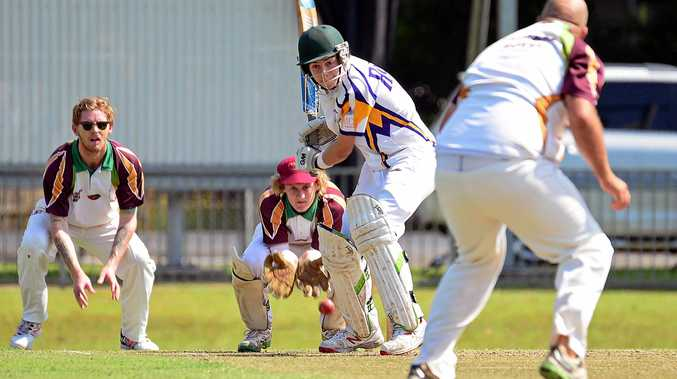 Youngster Kaleb Auld batting for Marist Brothers against Alstonville last season. Auld scored 33 not out in the Brethren's win over the red-soilers at