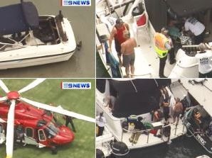 Boy burned in boat fire off South Stradbroke