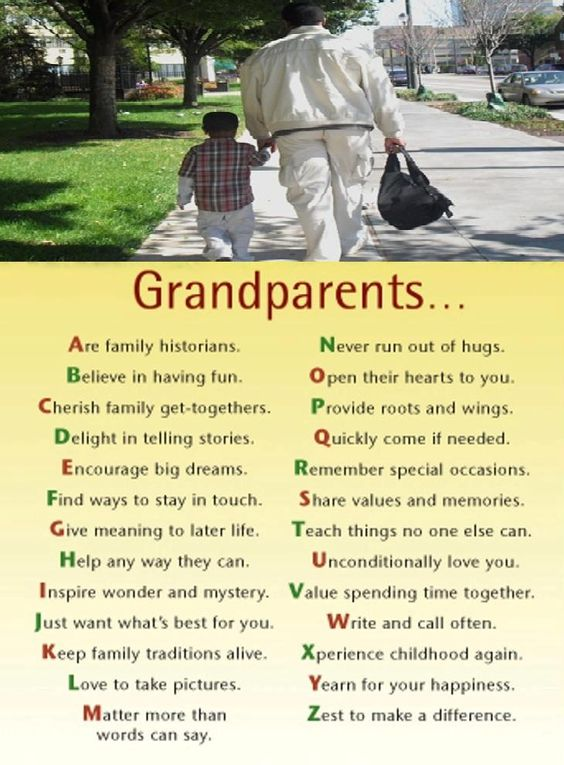 The joy of being a grandparent.