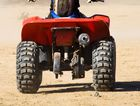 A man is in a stable condition after losing control of a quad bike