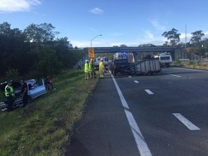 Bruce Hwy crash cleared but congestion continues