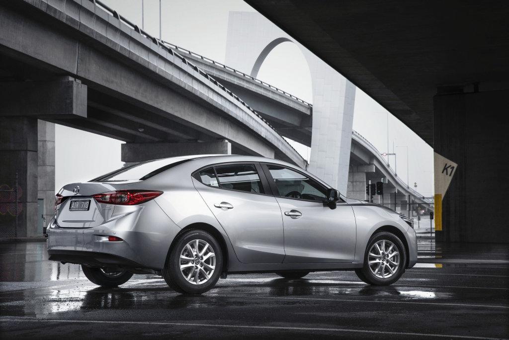 The Mazda3 Sedan.