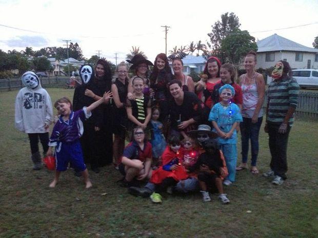 One of my parents' Halloween parties.
