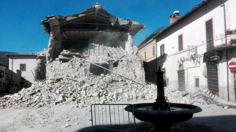A powerful earthquake rocked the same area of central and southern Italy hit by quake in August and a pair of aftershocks last week, sending already quake-damaged buildings crumbling after a week of temblors that have left thousands homeless.