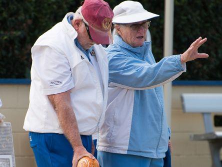 Blind lawn bowler Dennis Wormald.