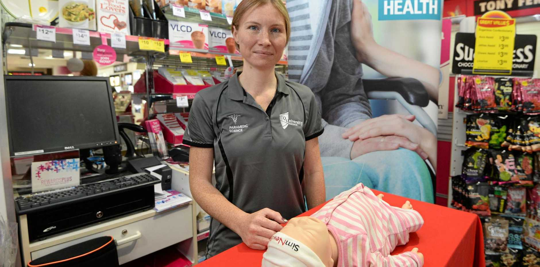 CQ University paramedic lecturer Natalee Williams-Claassen conducted the CPR workshop.